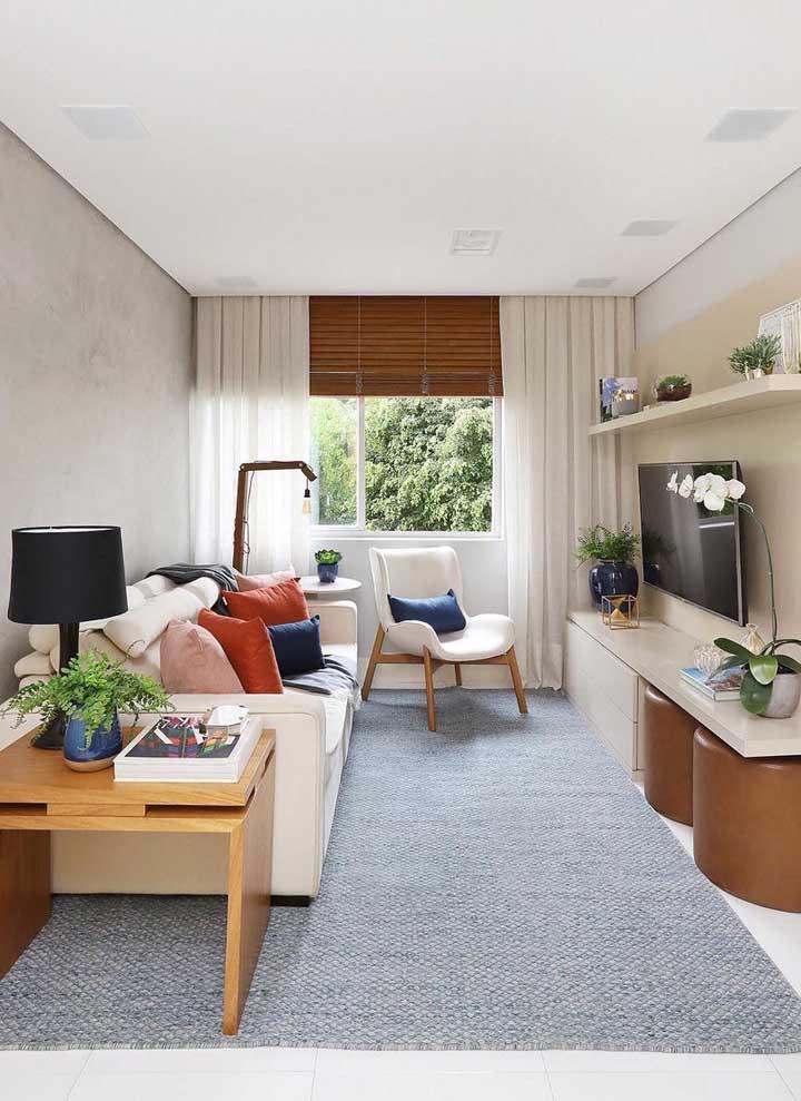 As plantas valorizam o projeto dessa sala