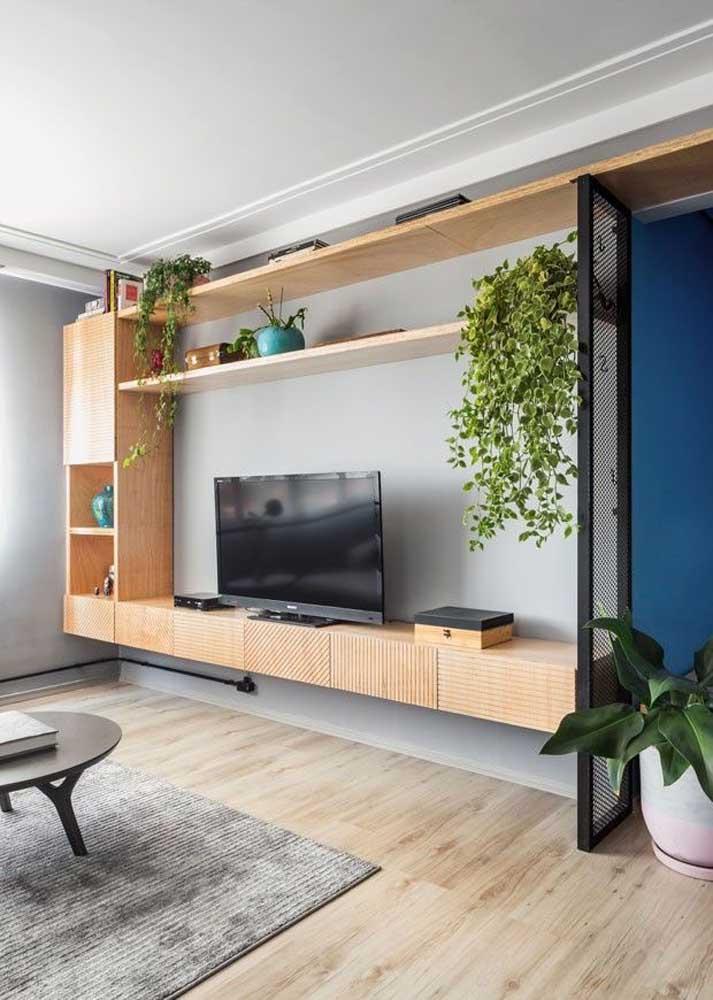 Sala planejada em estilo industrial: função além da estética