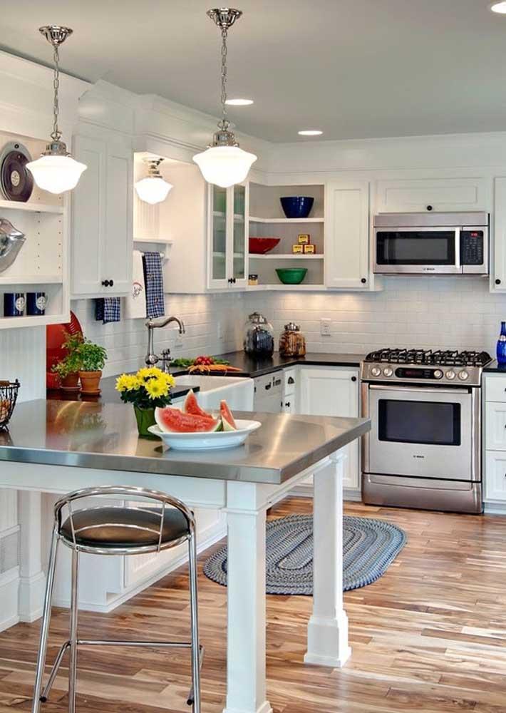 O tapete de crochê precisa aparecer na decoração da cozinha.
