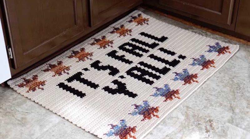 Tapete de crochê para cozinha: como fazer passo a passo e fotos
