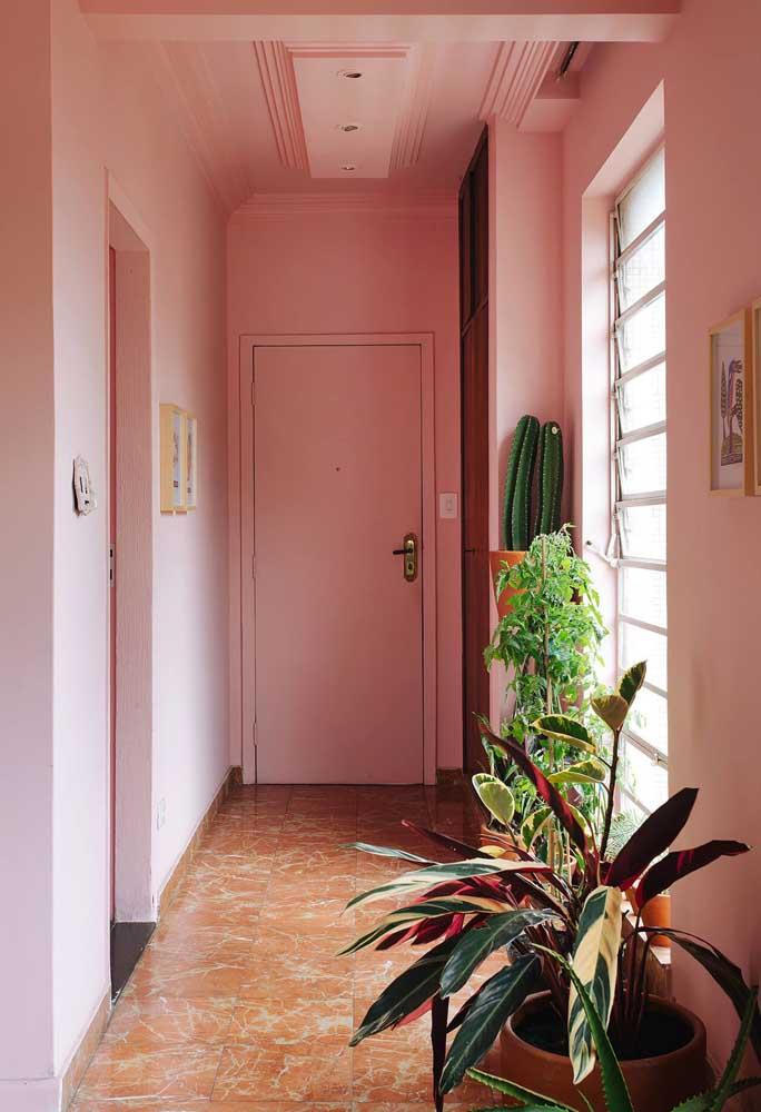 O efeito da cor rosa é o mesmo da cor branca: deixa o ambiente mais amplo e tranquilo.
