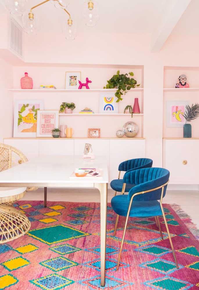 Tem combinação mais perfeita do que juntar as cores rosa e azul?