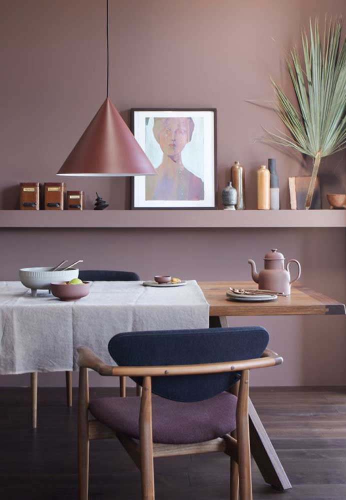 Você pode usar os tons de rosa apenas nos elementos decorativos do ambiente.
