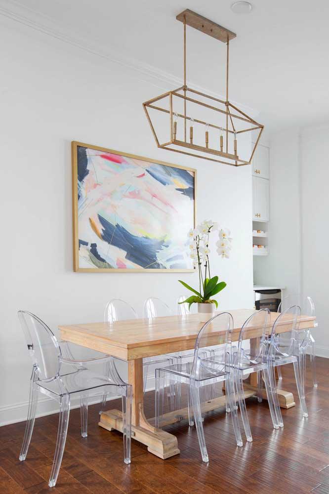 Cadeiras de acrílico transparente para a sala de estar moderna