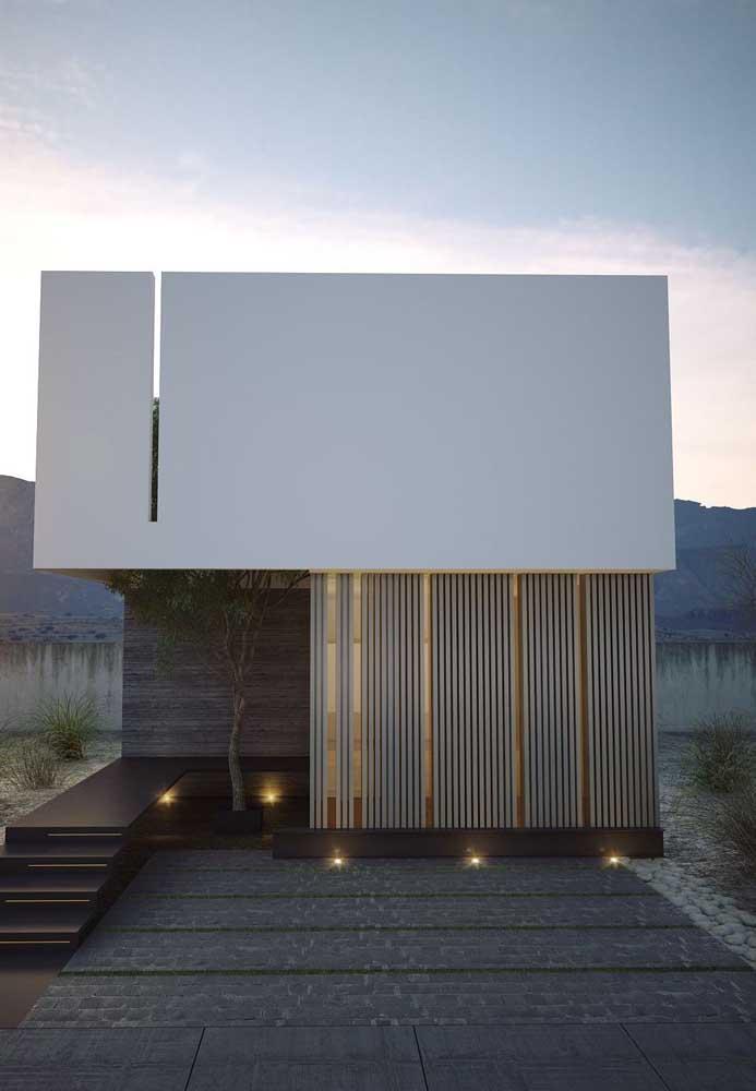 Casa planejada contemporânea com uma fachada cheia de estilo