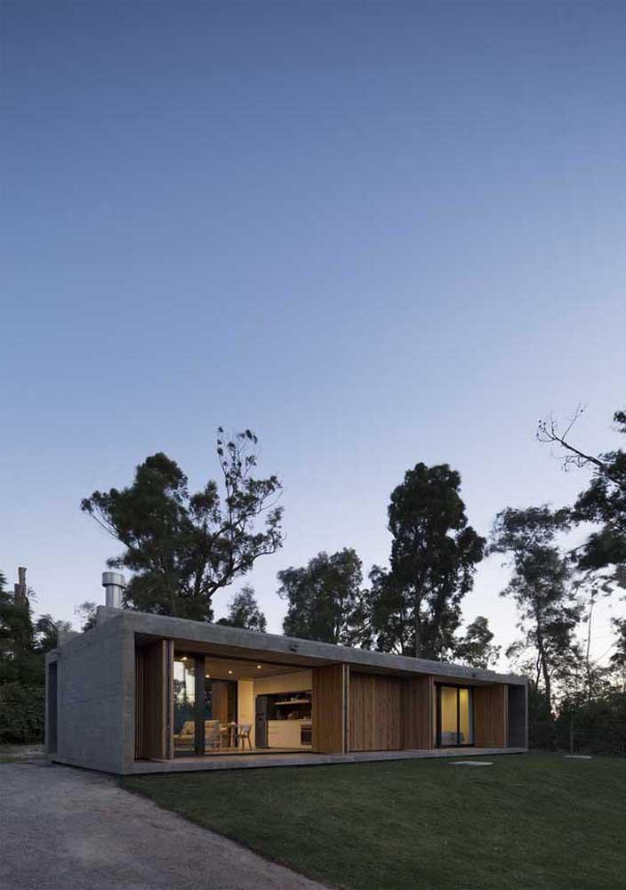 Inspiração de casa térrea planejada, ideal para quem tem muito espaço disponível