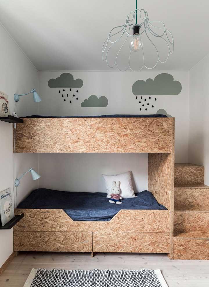 O quarto das crianças ficou super funcional com o beliche sob medida