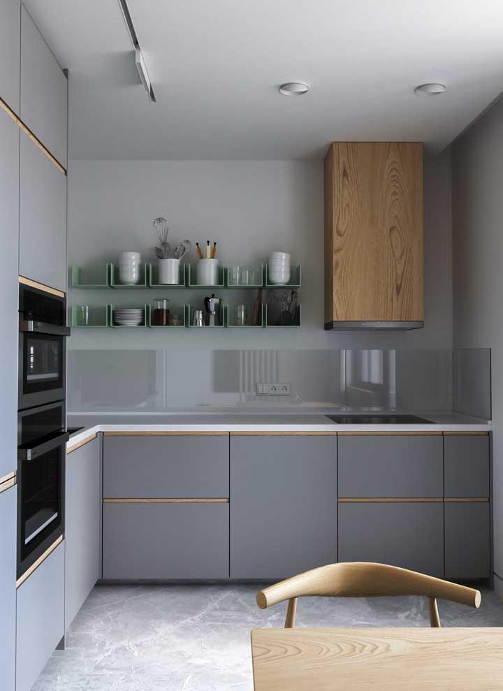 Cozinha planejada e moderna com forno embutido