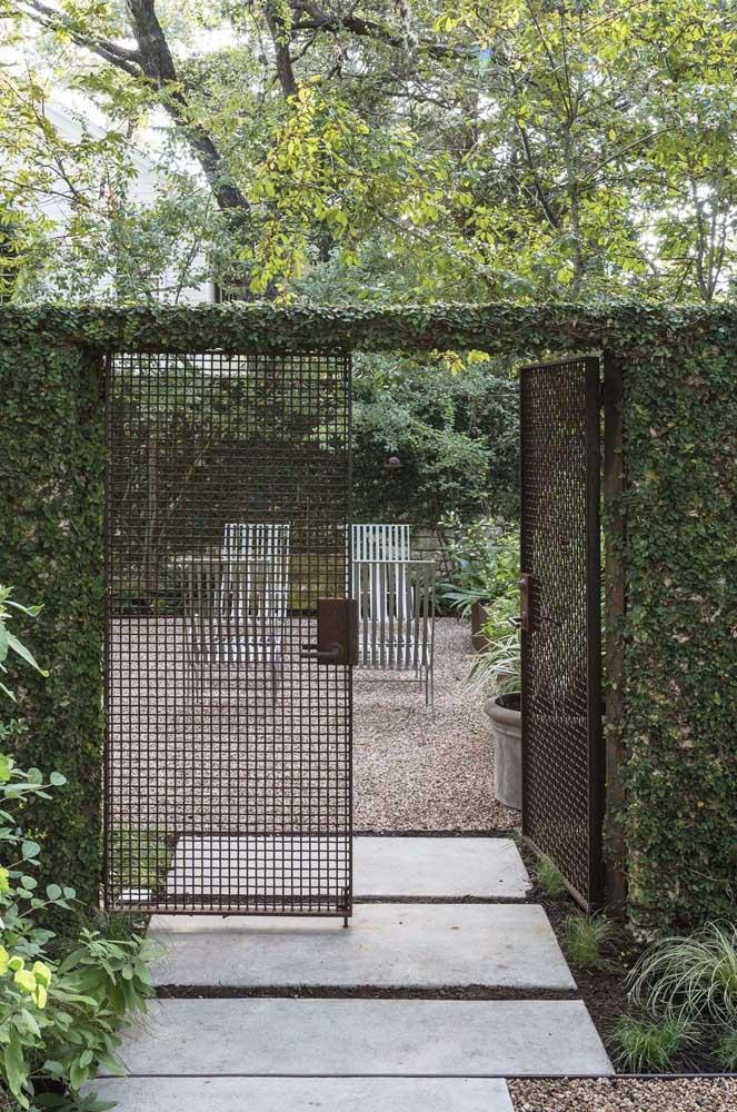 Quanto mais próximas as folhas e ramos da cerca viva, mais privacidade ela garante ao local