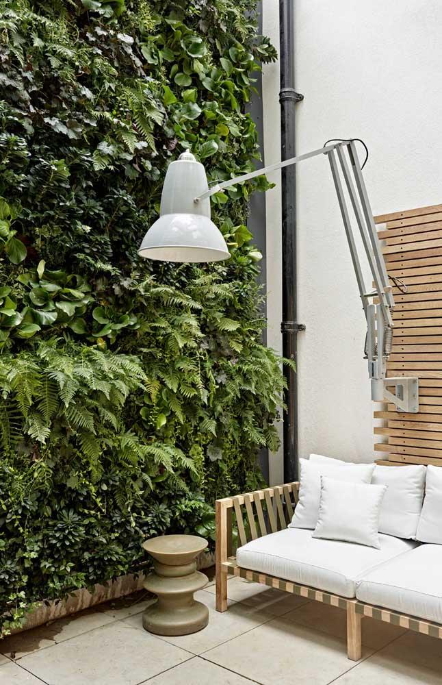 Um espaço tranquilo e relaxante, perfeito para a inclusão da cerca viva