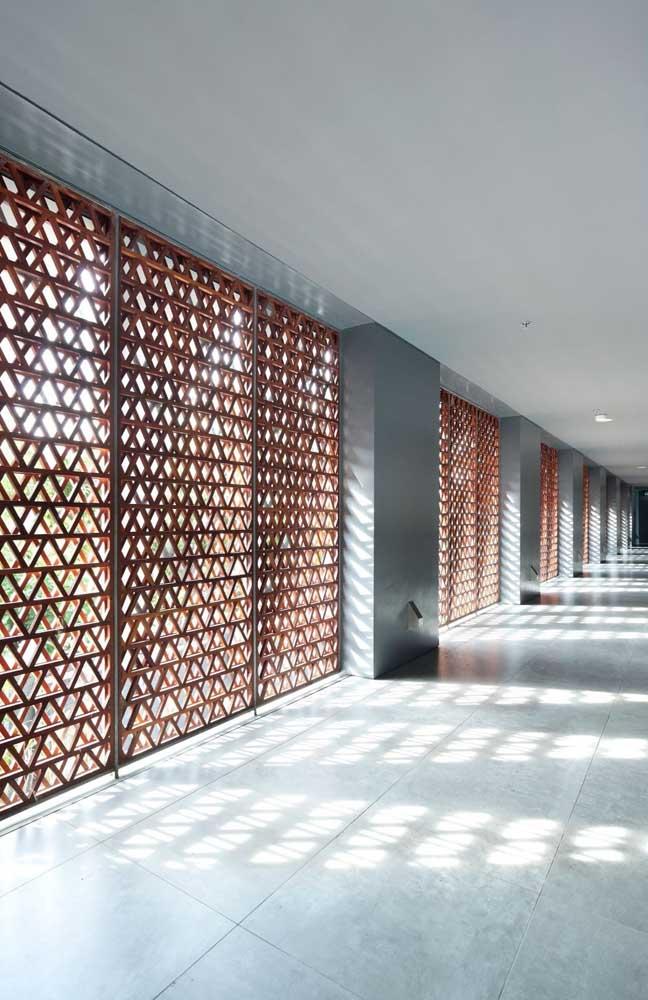 As formas geométricas são umas das mais utilizadas em cobogós, especialmente em projetos modernos