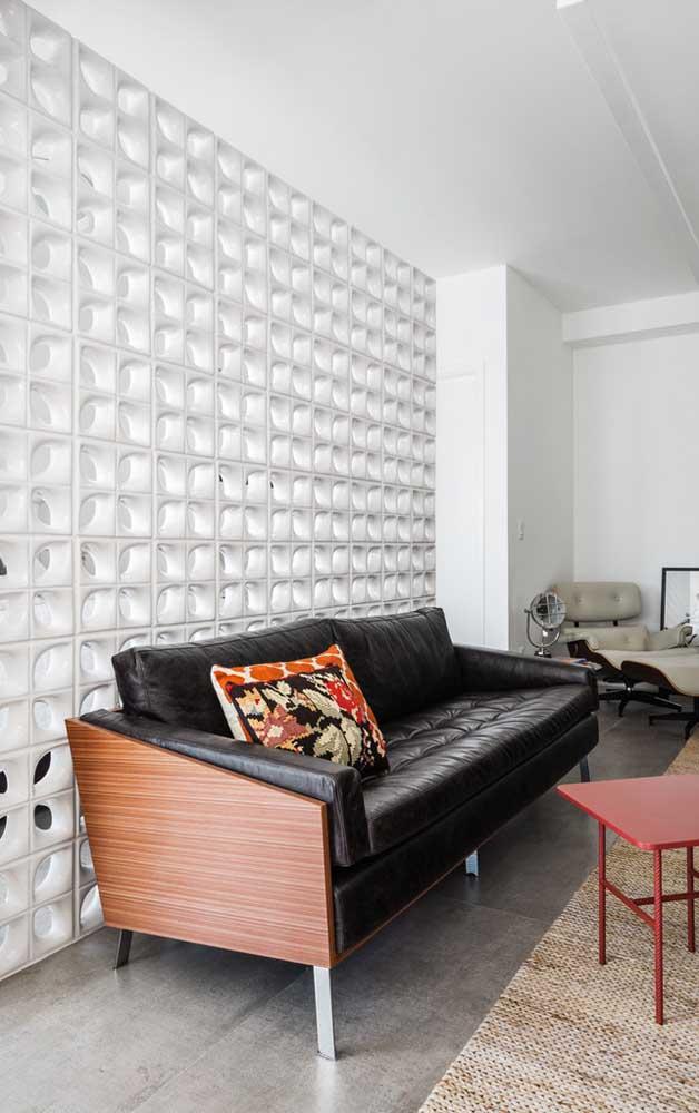 Cobogós de cerâmica branca esmaltada: um visual elegante e refinado para a sala de estar