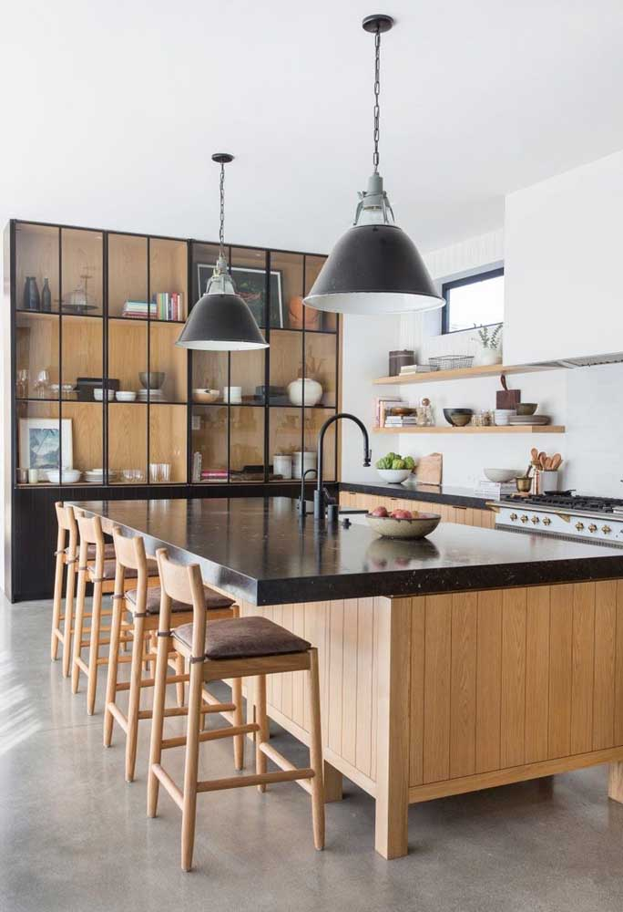 Cozinha gourmet com ilha: um dos modelo mais desejados por aí