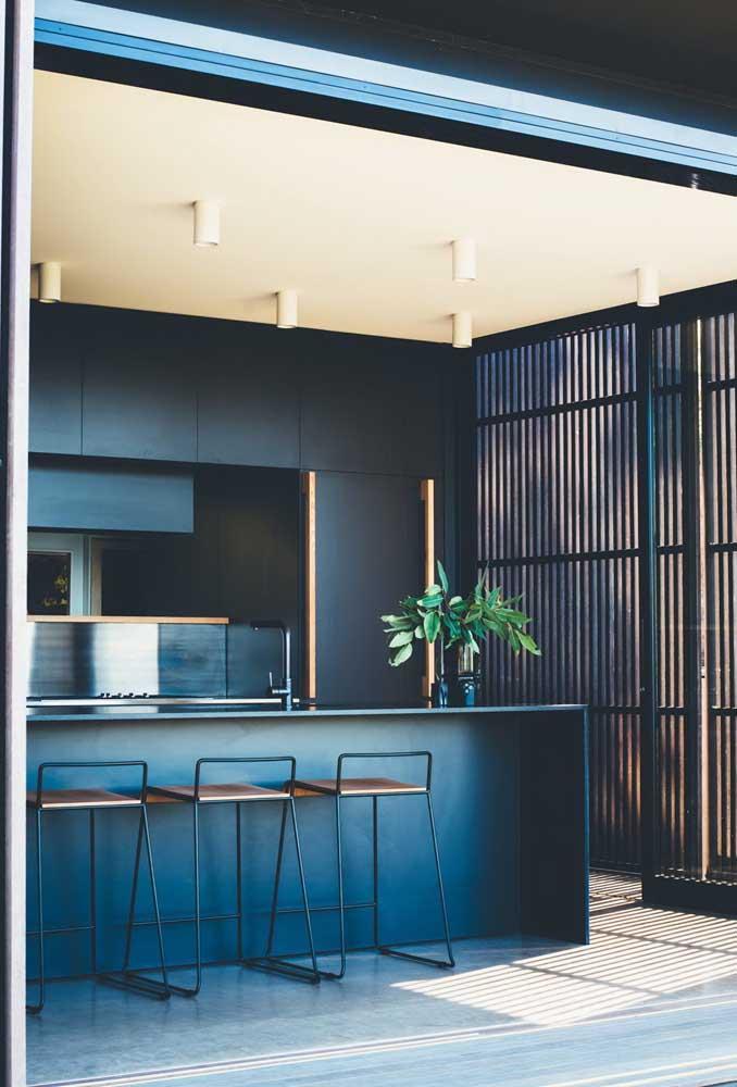 Cozinha gourmet integrada à varanda: ótima opção para apartamentos