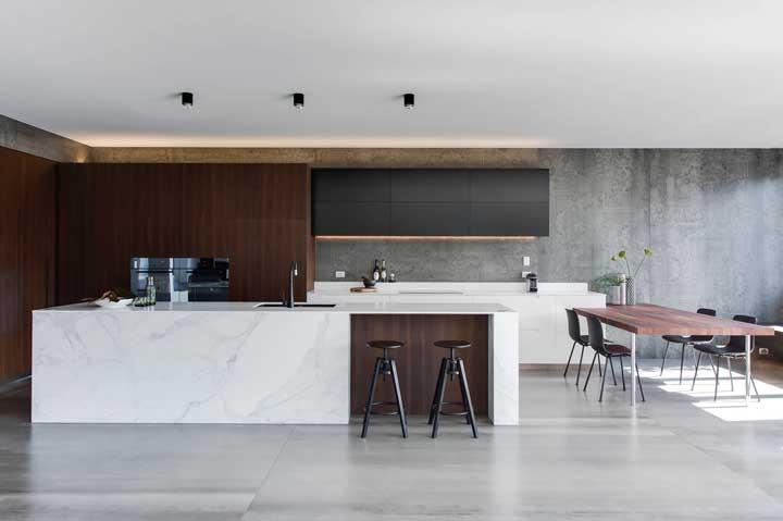 Luxo, modernidade e sofisticação se fundem nesse projeto gourmet