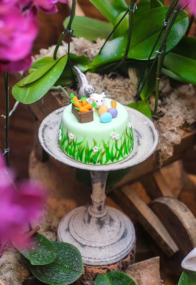 O bolo da Páscoa pode ser simples, mas deve ser cheio de símbolos da Páscoa.