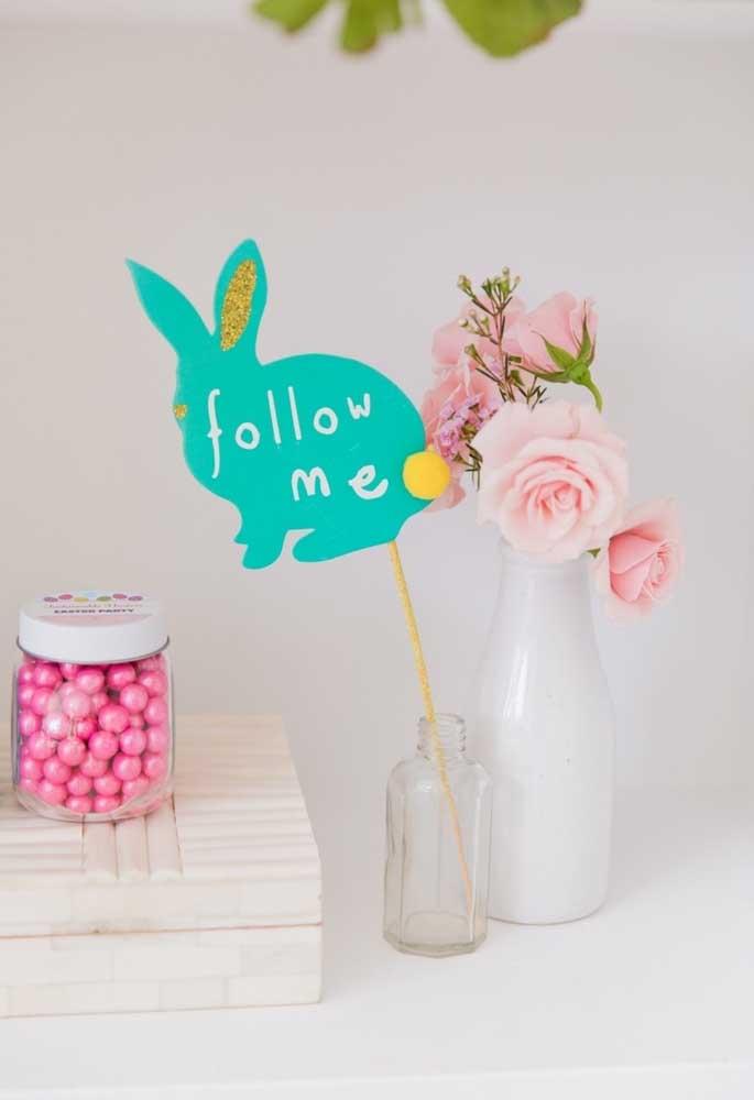 Que tal fazer uma decoração delicada e clean para comemorar a Páscoa?