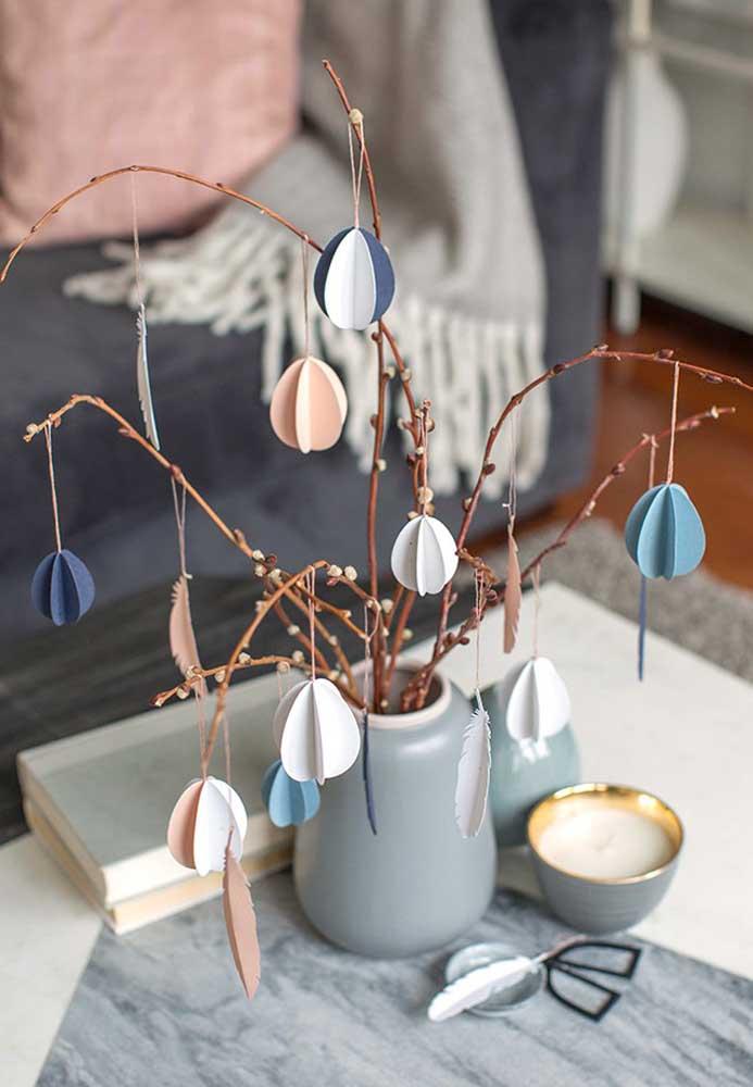 Prepare uma decoração de Páscoa simples e econômica com elementos decorativos significativos.