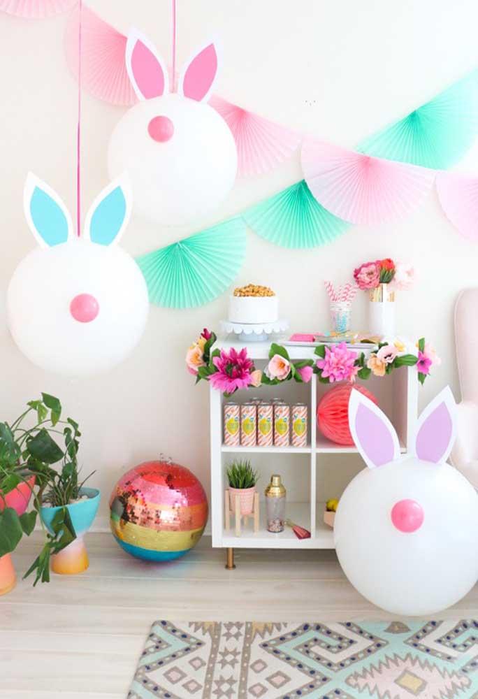 Se inspire no coelhinho da Páscoa para fazer a decoração dessa celebração.