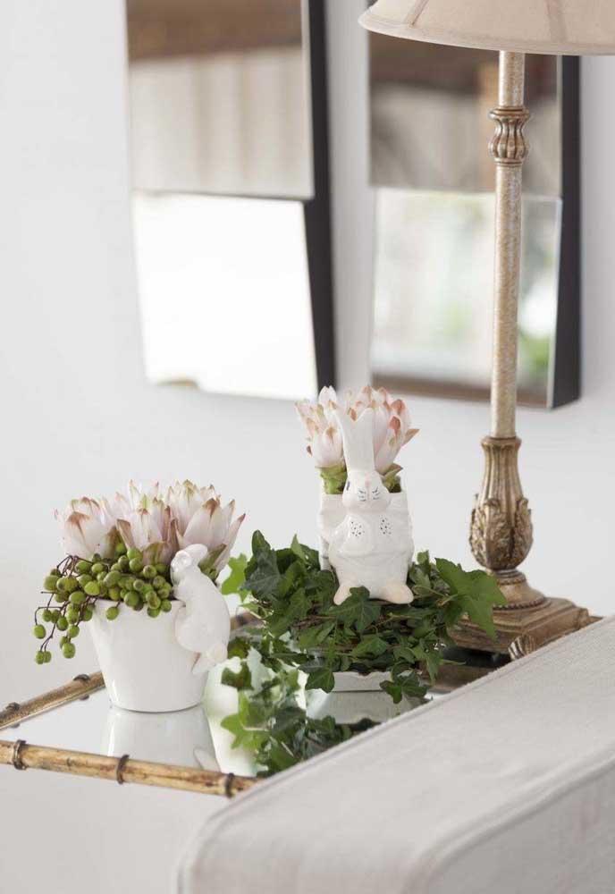 Uma decoração mais clean pode ser a aposta para uma Páscoa de paz e tranquilidade.