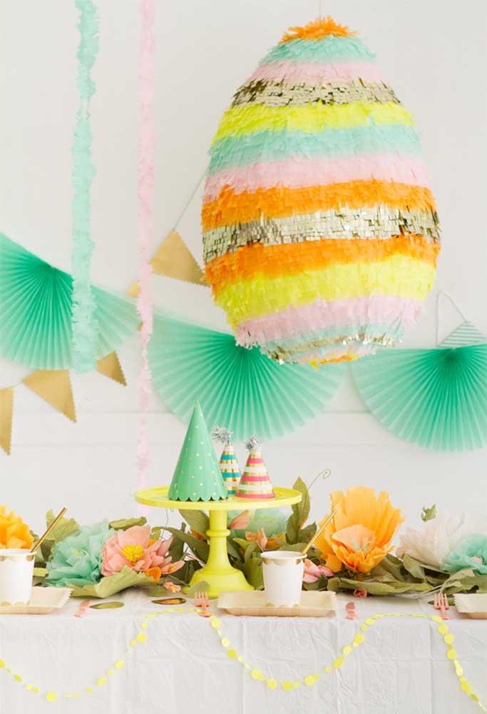 O que tal apostar em uma decoração brilhante e colorida para comemorar a Páscoa com seus convidados?