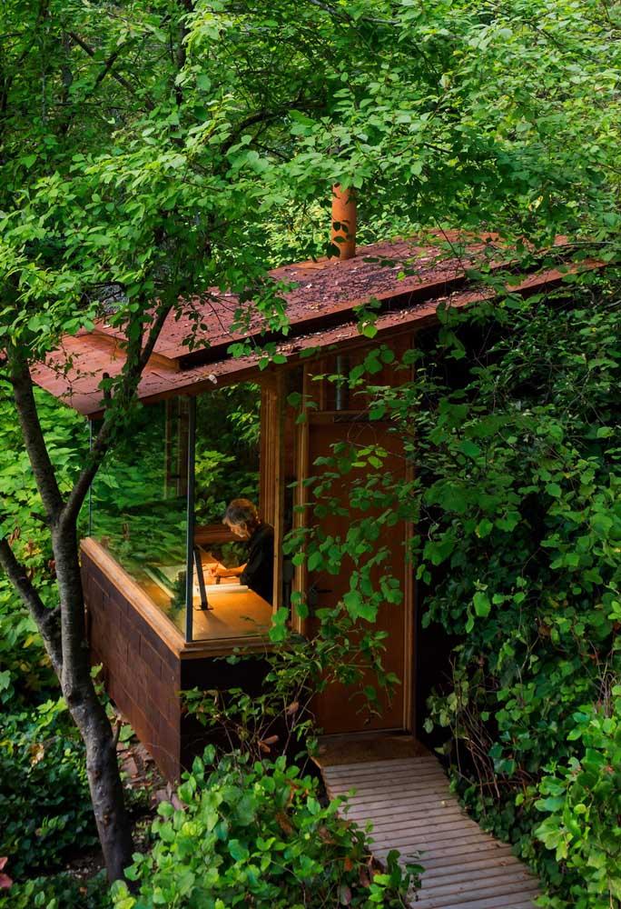 Edícula ou casa na árvore? Seja como for, é um projeto deslumbrante!