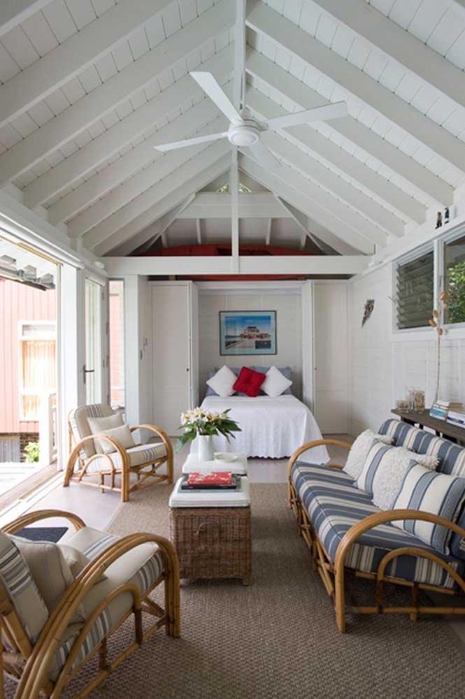 A edícula com quarto é o modelo perfeito para receber amigos e familiares com conforto