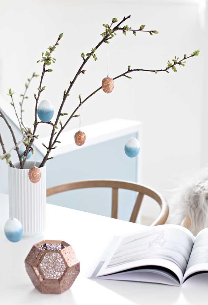 Na páscoa vale todo tipo de criatividade, até uma árvore de ovos.