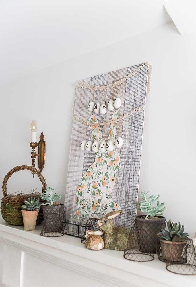 Que tal fazer um painel lindo como esse para decorar a sua casa na páscoa?