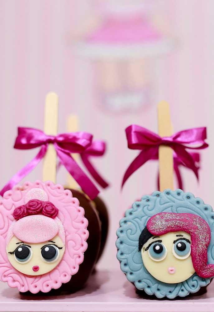 Mais um modelo de decoração perfeito para fazer no cake pop.