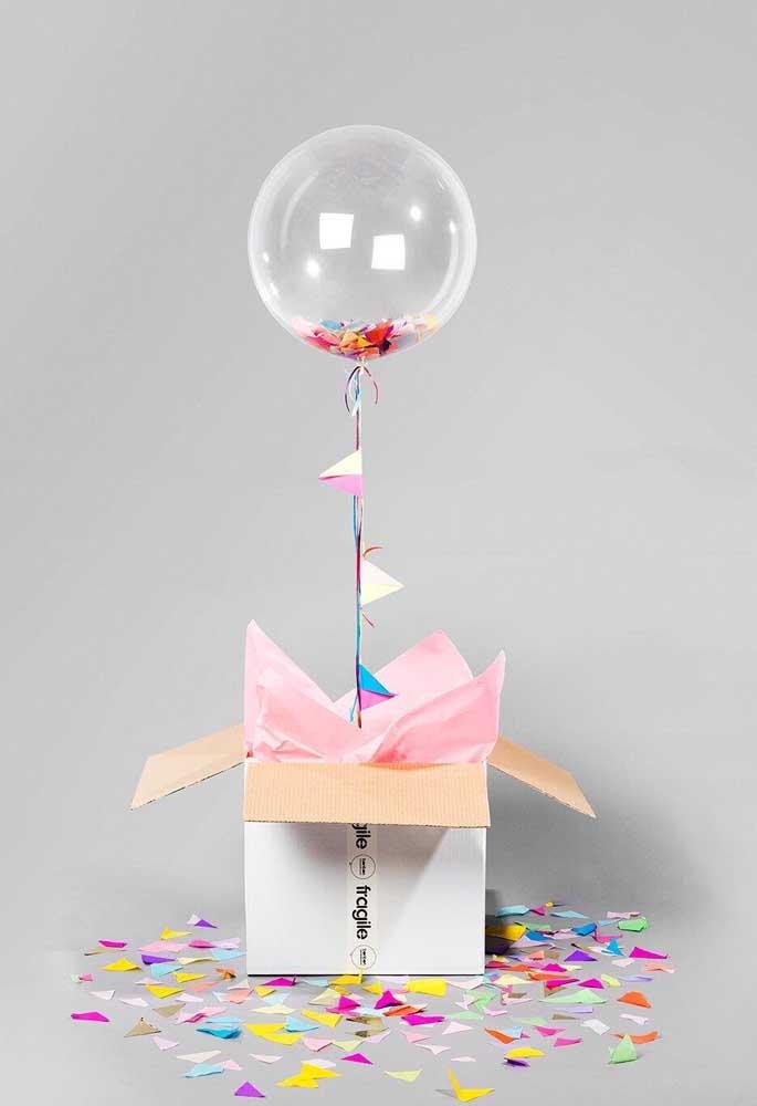 Não importa onde, quando tem balão tem festa!
