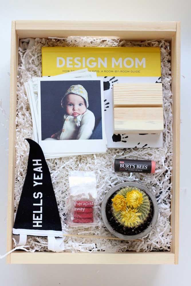 Sugestão de festa na caixa para o dia das mães