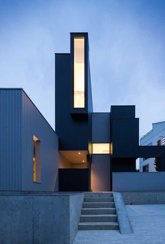 Casa container com uma frente cheia de estilo e modernidade