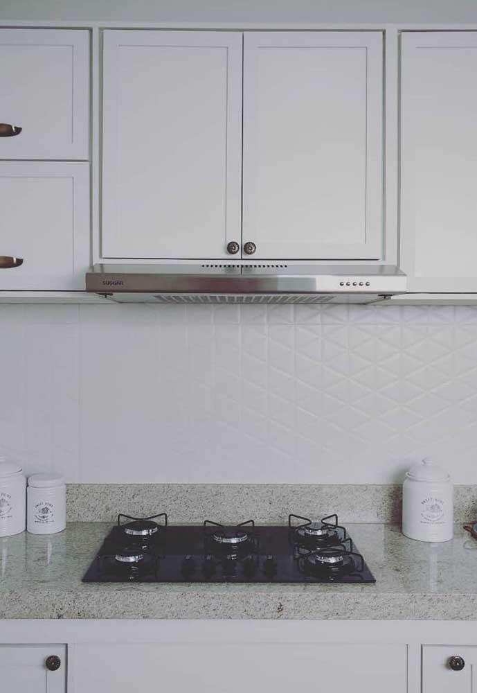 Granito branco para a cozinha minimalista