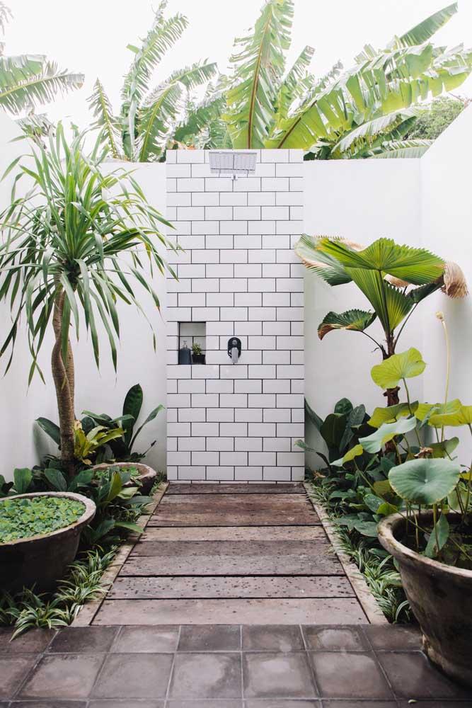 Escolha as plantas do jardim simples a partir do ambiente em que elas serão colocadas, mas, sobretudo, pela disponibilidade que você tem para cuidar delas; essas da imagem, por exemplo, exigem poucos cuidados