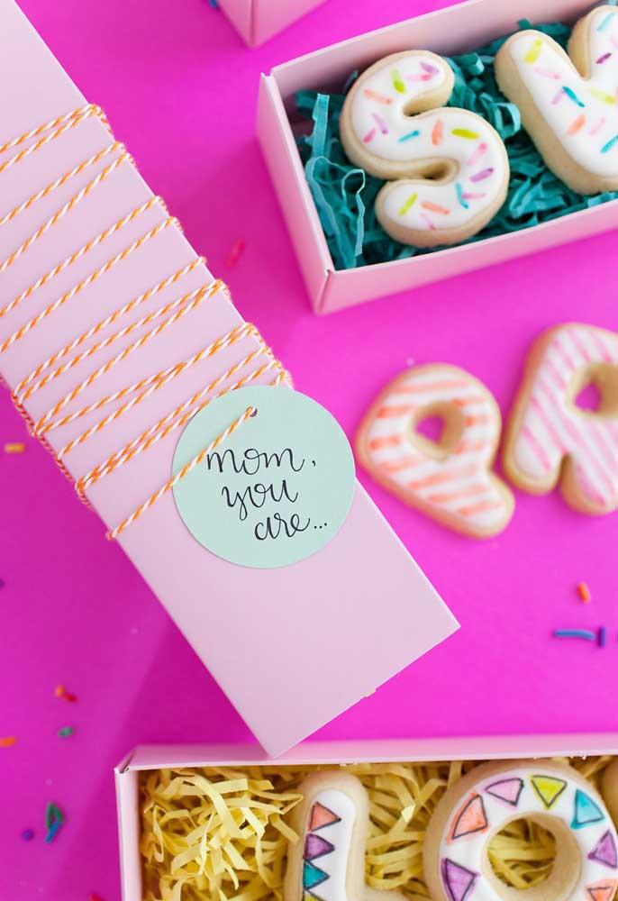 Use a criatividade para preparar lembrancinhas especiais para a sua mamãe.