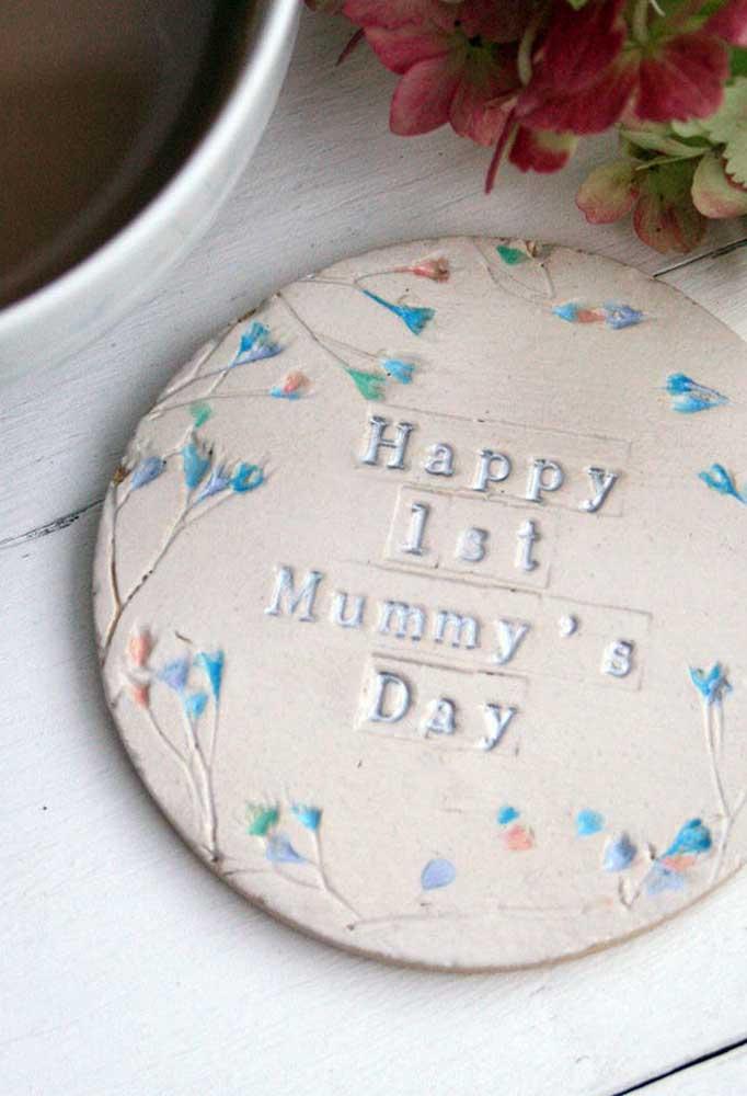 Que presente mais fofo para oferecer como lembrança do dia das mães.