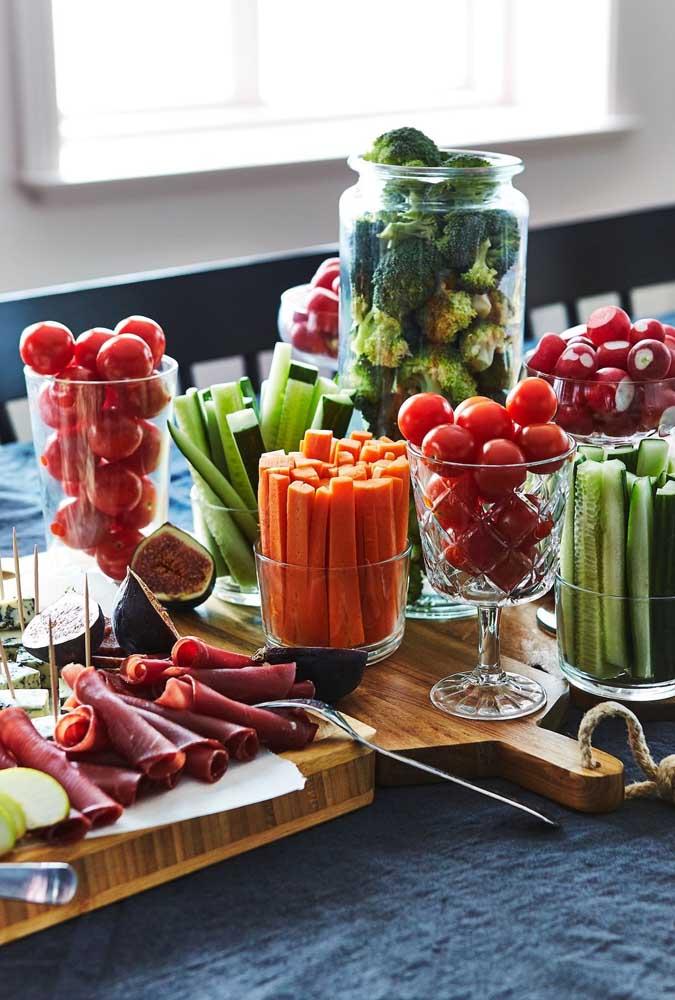 Uma ideia diferente para a mesa de frios: legumes e vegetais cozidos