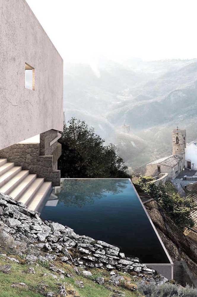 Uma piscina incrível para um lugar mais incrível ainda
