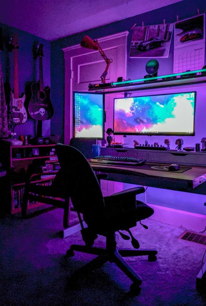Iluminação é tudo no projeto do quarto gamer