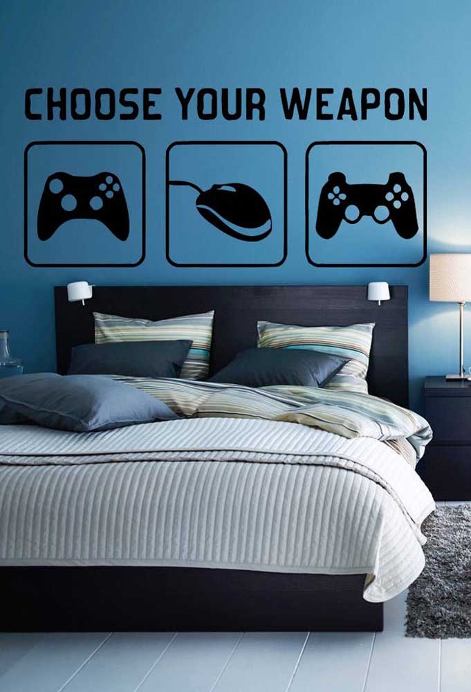 Adesivos gamer temáticos para parede; uma outra opção de decoração simples e barata