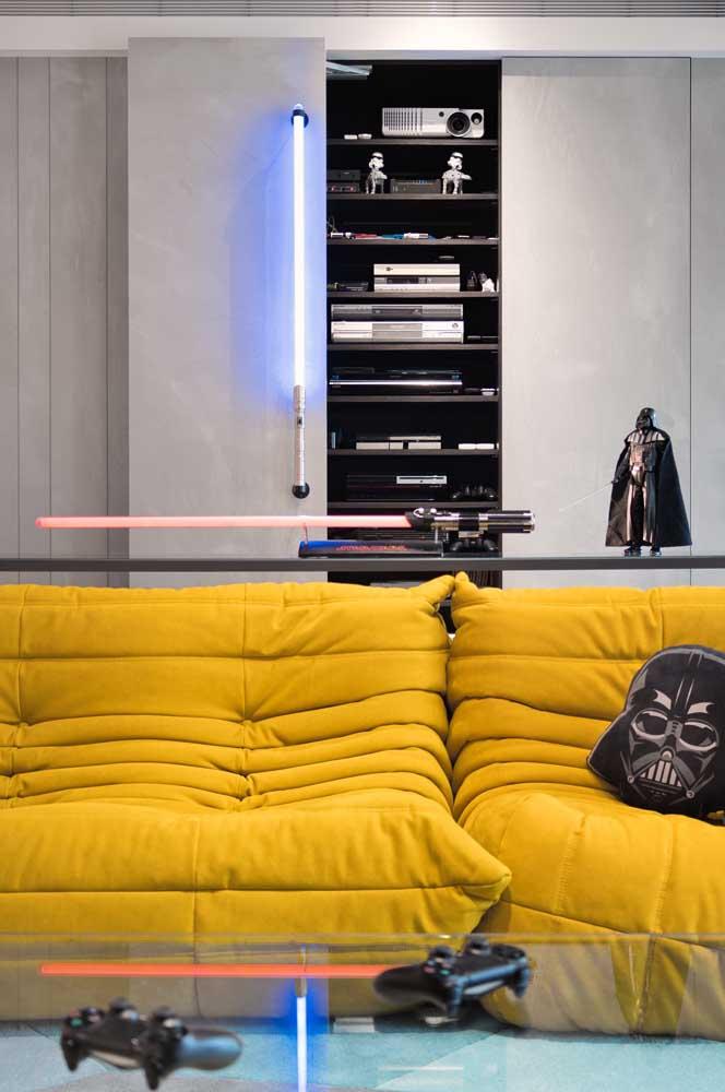 Star Wars sempre marcando presença nas decorações gamer e geek