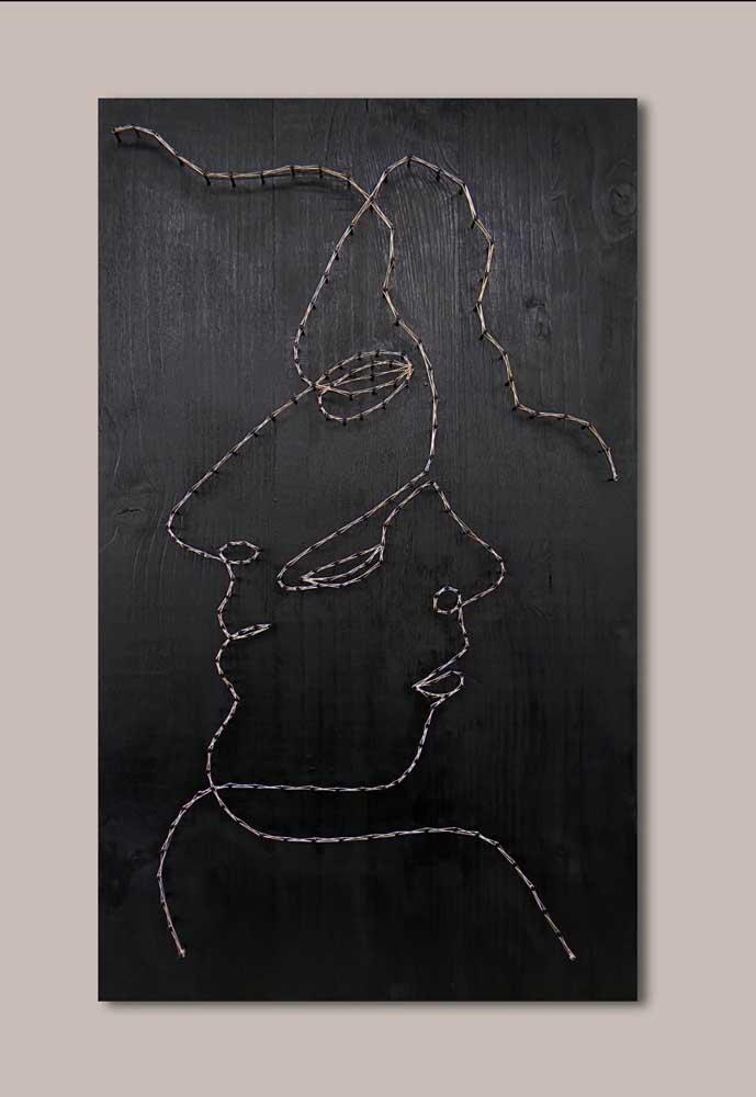 Lindo trabalho artístico com String Art!