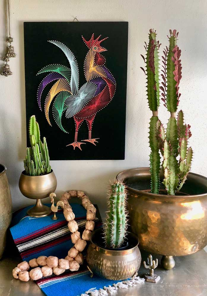 Esse trabalho de String Art impressiona pela riqueza de detalhes e pela combinação de cores