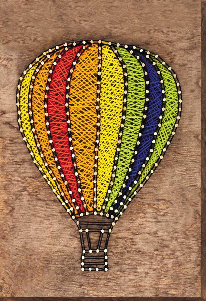 E o que acha de um balão bem colorido?