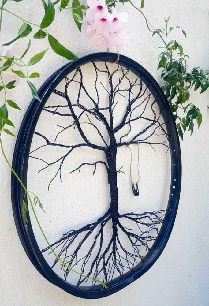 Árvore da vida em String Art para completar aquela decor boho que você tanto ama