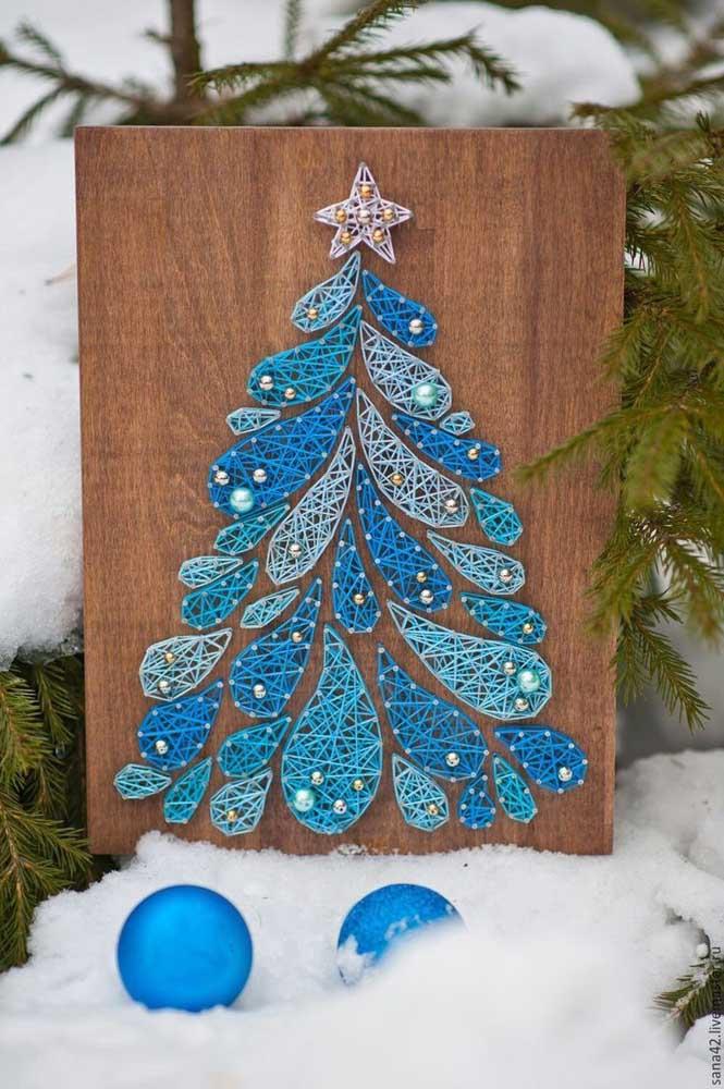 A decoração de natal também fica garantida com o String Art