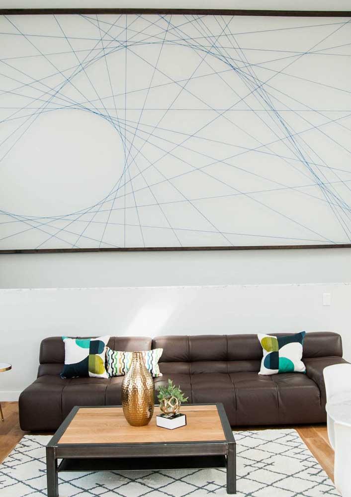 String Art cobrindo toda a extensão da parede