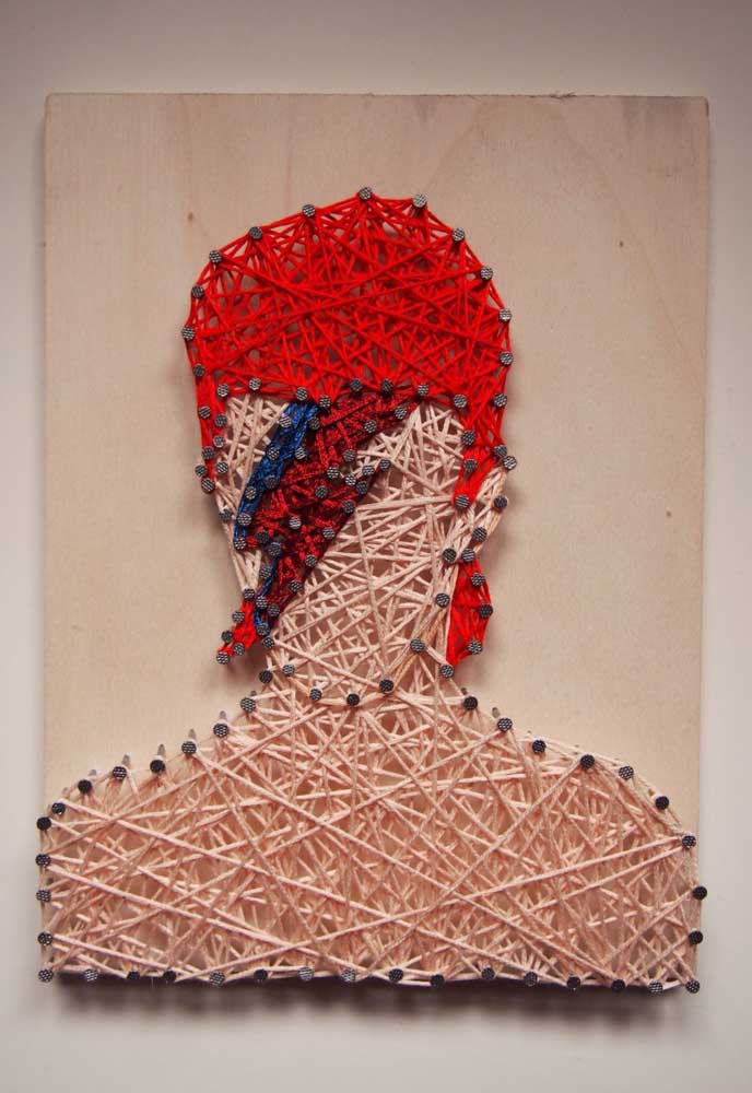 Silhueta rock and roll em String Art