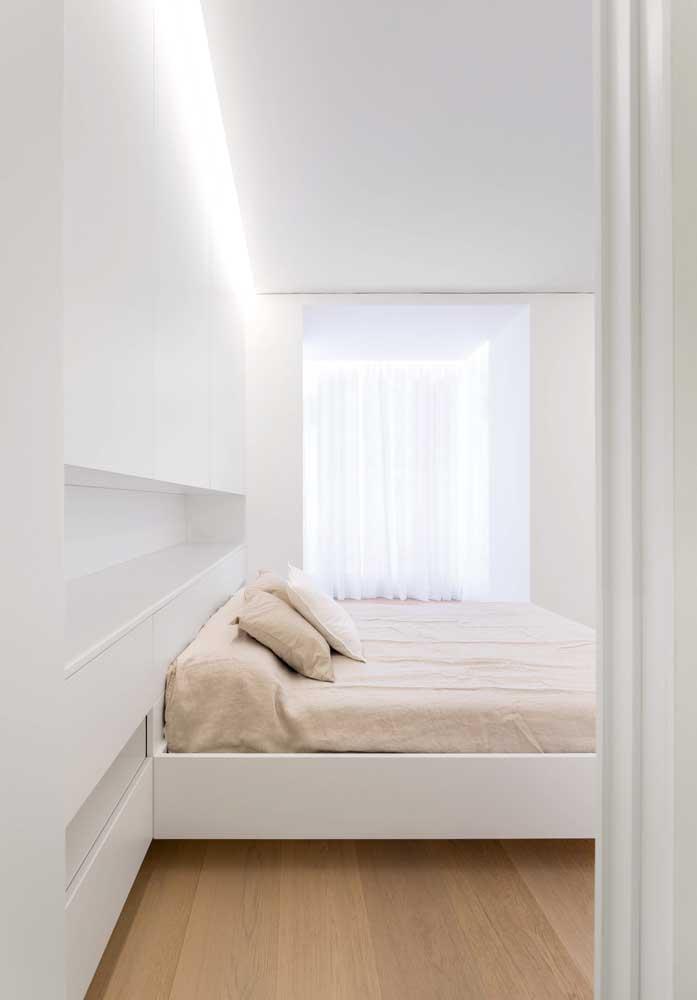 Teto de gesso tabicado para o quarto de design clean